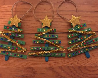 Sparkly Christmas Tree Ornament