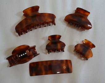 Set of clips and Barrette Devisage Paris and Swarovski jewelry
