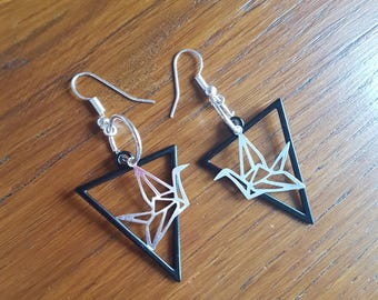 Origami Triangle earrings