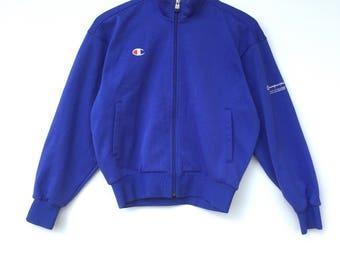 Champion Sweater Big Logo Embroidery Sweat Medium Size Jumper Pullover Jacket Sweater Shirt Vintage 90's