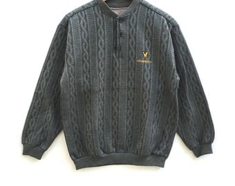 Rare!! Lyle & scott Sweatshirt Spell Out Pull Over big logo embroidery