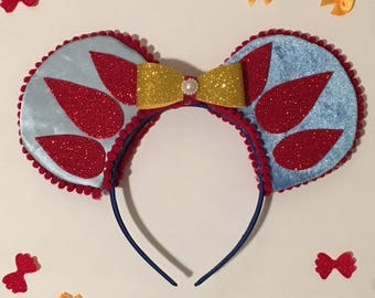 Snow White Inspired Mickey Mouse Ears