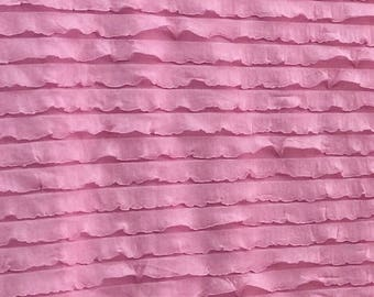 Light Pink Ruffled Curtain Valance - Pink Ruffle Window Treatment, Baby Girls Nursery - Pink Valance - Pink Ruffle Valance, Kitchen Valance