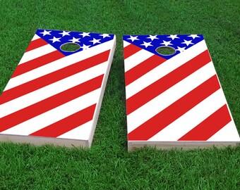 American Patriot Cornhole Set (w/ 8 pre-filled bags)