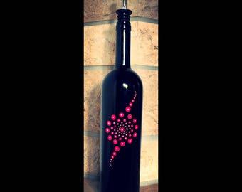 Winebottle handpainted