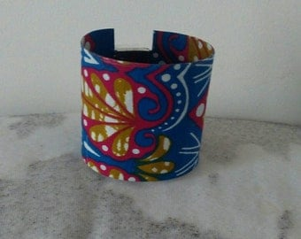 African wax Cuff Bracelet
