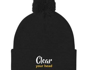 Clear your head Pom Pom Knit Cap