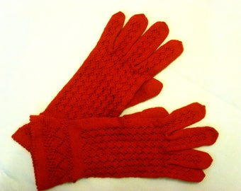 Knitted gloves. Openwork Gloves. Red. Lace Gloves. Women gloves. Accessories. Handmade. Winter gloves. Autumn gloves. Gift for women. Size L
