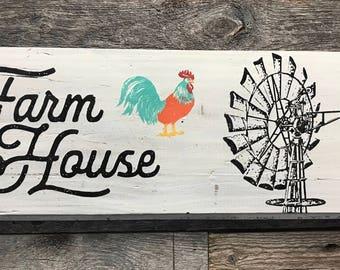 Farm House Windmill Sign