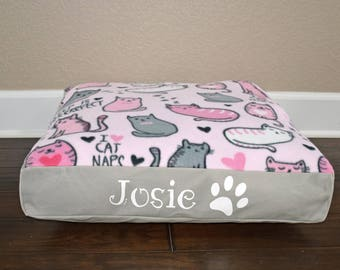 """22"""" Square Personalized Cat Bed"""