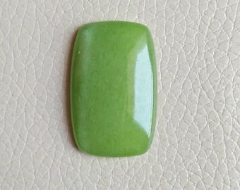 Chinese Green Gemstone Size 38x25x8 MM Approx, Beautiful Designer Jewellery Cabochon for Jewellery Craft Supply, Stone Weight 48 Crt.