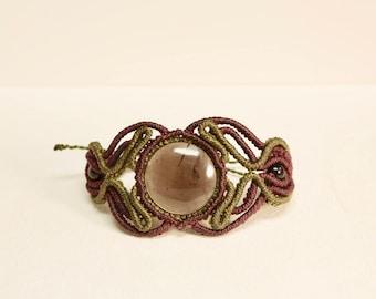 Macrame Bracelet with Obsidian Stone