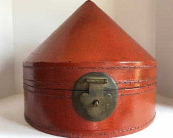 Antique Chinese Hat Box