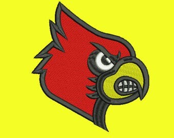 louisville cardinals Embroidery design 10 Size INSTANT download machine embroidery