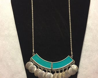 Turquoise statement necklace bib