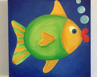 """12""""X12"""" Custom Fish Painting"""