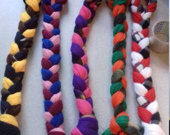 5 x ring top fleece plaited dog toys