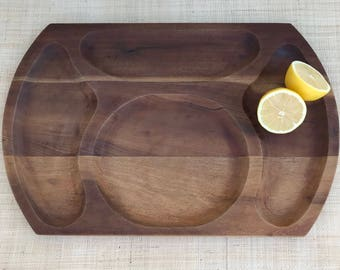 Teak Divided Serving Tray