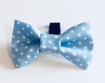 Pet Bow Tie - Blue Spots