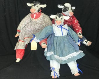 Cow Animal Dolls Handmade