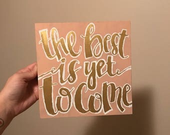 Wood Quote Painting