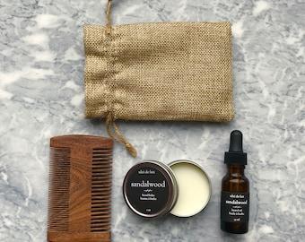 Beard Grooming Kit | Beard oil + Beard balm + beard comb