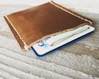 Minimalist Leather Wallet, Personalized Wallet, Slim Wallet, Credit Card Wallet