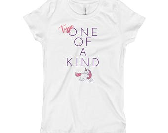 Dia-Be-Tees Type One of a Kind Unicorn Girl's T-Shirt