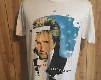 Vintage Rod Stewart Vagabond Heart 1991 Music Tour tee t shirt - 90s clohting - 1990s tee t shirt - rock n roll - music tshirt (XL)