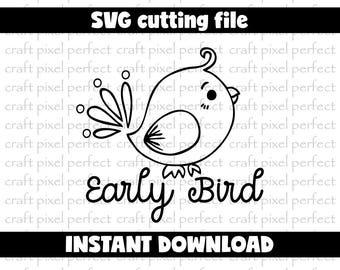 Early Bird Svg File, Preemie Svg File, Baby Svg Cut File, Premature Baby Svg File, Newborn Svg File, Premature Svg Designs, Baby Outfit Svg