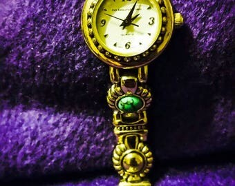 No Boundaries silver and turquoise ladies wrist watch