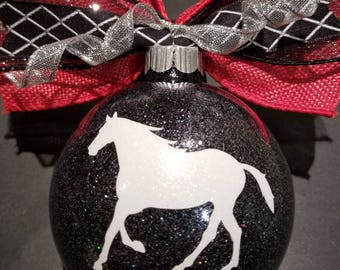 Christmas Ornament - Horse 3.25 inch plus bow