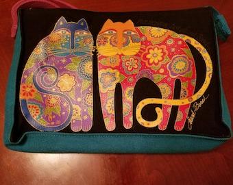 Laurel Burch Cats Flowering Felines-Pouch Bag