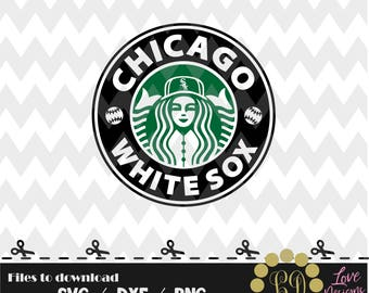 Chicago White Sox coffee svg,png,dxf,shirt,jersey,baseball,college,university,decal,proud mom,disney,softball,college,starbucks,ncaa,svg