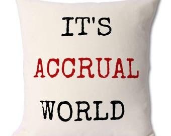 Accountant gift,accountant cushion,accountancy gift,accountant student,accountancy student,college,degree,graduate,graduation gift,accounts