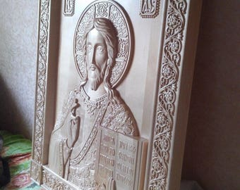 Icon God Almighty. Carved Wooden Picture. Orthodox(Christian). Any size