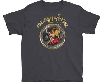 Roman gladiator soldier Youth Short Sleeve T-Shirt