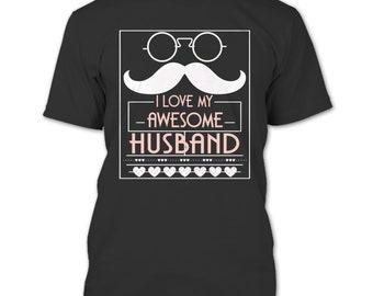 I Love My Awesome Husband T Shirt, Coolest Husband T Shirt