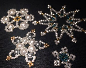 Christmas decorations - Set of 4 stars