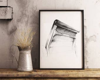 Chair sketch drawing