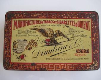 Dimitrino Egyptian Cigarette Tin (100/empty) C.1910
