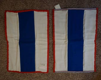 Red, white, and blue burp cloth