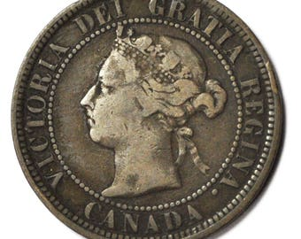 1884 1c Canada One Large Cent KM7 Bronze