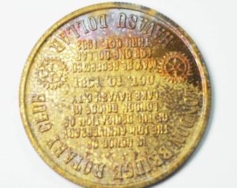 Lake Havasu AZ London Bridge 1971 Rotary Club Dollar 33mm Copper