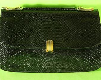 Handmade leather handbag and printed reptile BUTI SUPER OSCAR