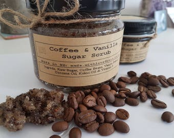 Coffee & Vanilla Sugar Scrub- Exfoliates- moisturizing- Anti oxident- shower time
