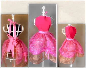 Pink Fairy Princess Childs Apron