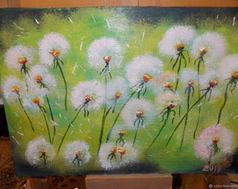 Painting by light dandelion butter