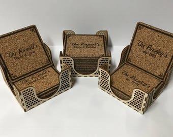 Custom Cork Coaster Set