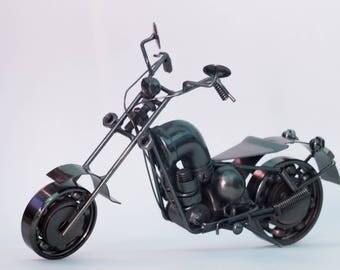 Metal Motorcycle Motorbike Handmade Scrap